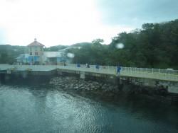 Tropenregen an der Mahogany Bay auf Roatan
