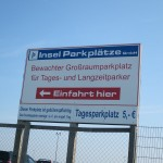 Parkplätze stehen am Fährhaus in Bensersiel zur Verfügung