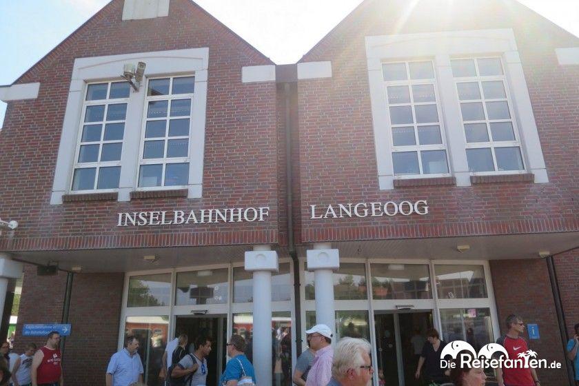 Am Inselbahnhof auf Langeoog