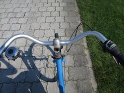 Blick nach unten auf der Fahrradtour über Langeoog