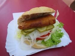 Fischbrötchen im Restaurant Treffpunkt auf Langeoog.