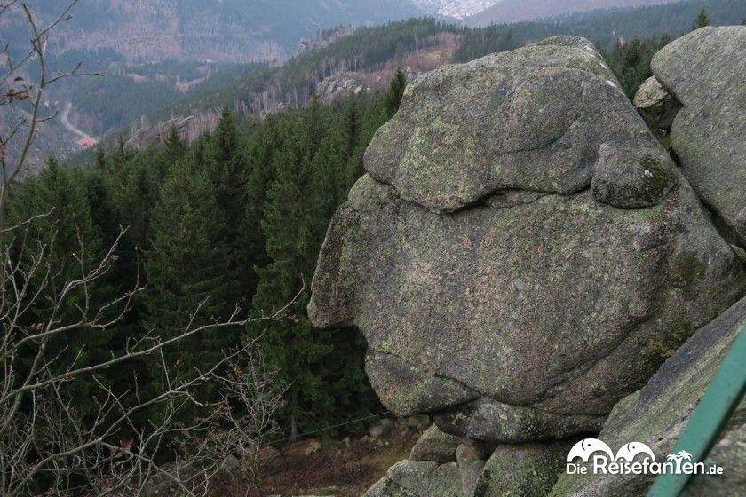 Hier kann man deutlich das Gesicht des Alten vom Berge erkennen