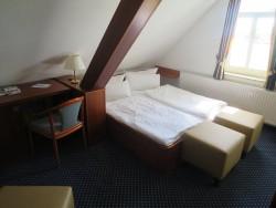 Unser stilvoll eingerichtetes Doppelzimmer im Hotel Mitten Mang auf Langeoog