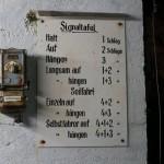 Alte Signaltafel im 19-Lachter-Stollen in Wildemann