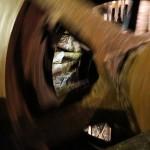 Das sich drehende, neue Kehrrad im 19-Lachter-Stollen in Wildemann