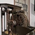 Eine Miniaturversion des Kehrrades im Museum des 19-Lachter-Stollens in Wildemann