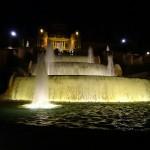 Wasser und Lichter an der Font Magica in Barcelona
