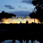 Wasserspiele der Font Magica in Barcelona