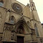 Aussenbereich der Santa Maria del Mar in Barcelona