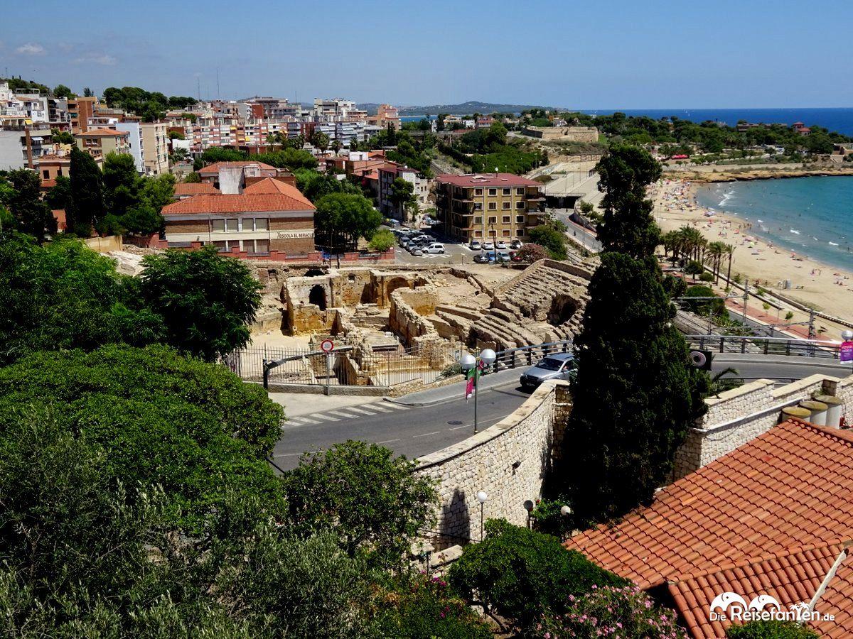 Blick auf das Amphitheater am Strand von Tarragona