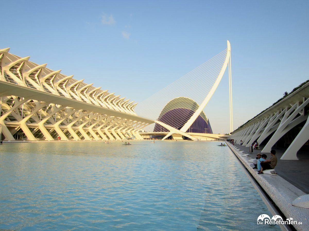 Blick auf die Stadt der Künste und der Wissenschaften  in Valencia