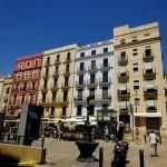 Bunte Häuserfassade in Tarragona