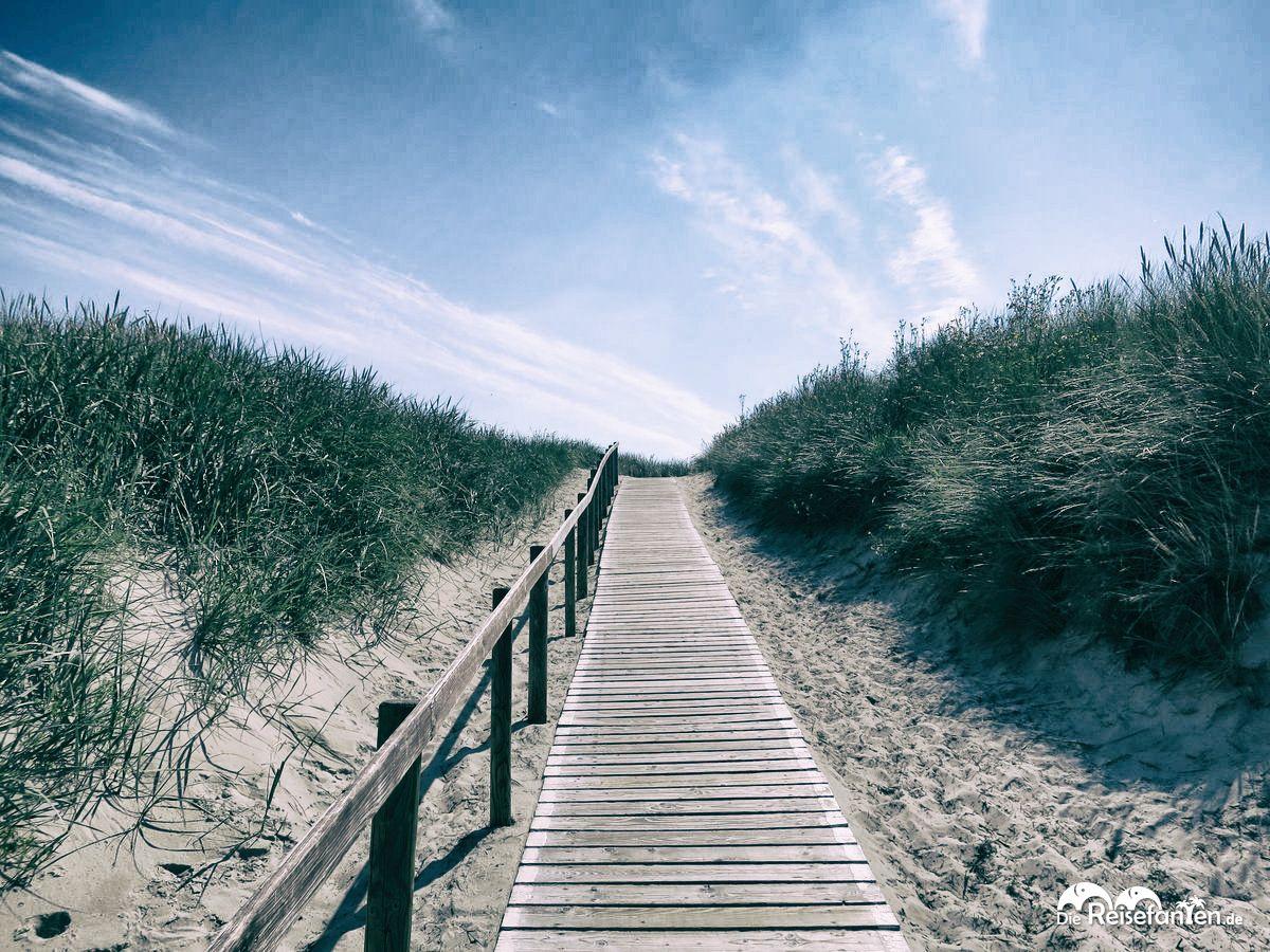 Der Weg vom Strand auf Langeoog