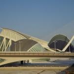 Futuristische Architektur in der Stadt der Künste und der Wissenschaften  in Valencia