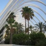 Große Grünanlage L'Umbracle in der Stadt der Künste und der Wissenschaften in Valencia