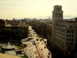 Aussicht vom Corte Ingles in Barcelona