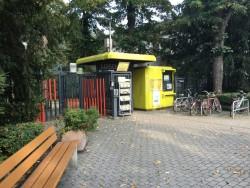 Einer der Eingänge zum Luisenpark Mannheim