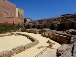 Im Innenraum des Amphitheaters in Tarragona