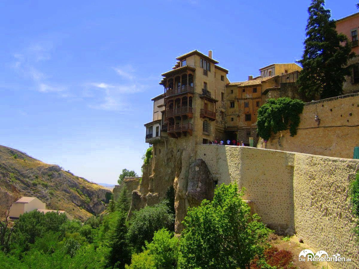 Die hängenden Häuser in Cuenca in Spanien