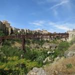 Eisenbahnbrücke über der Schlucht von Cuenca in Spanien
