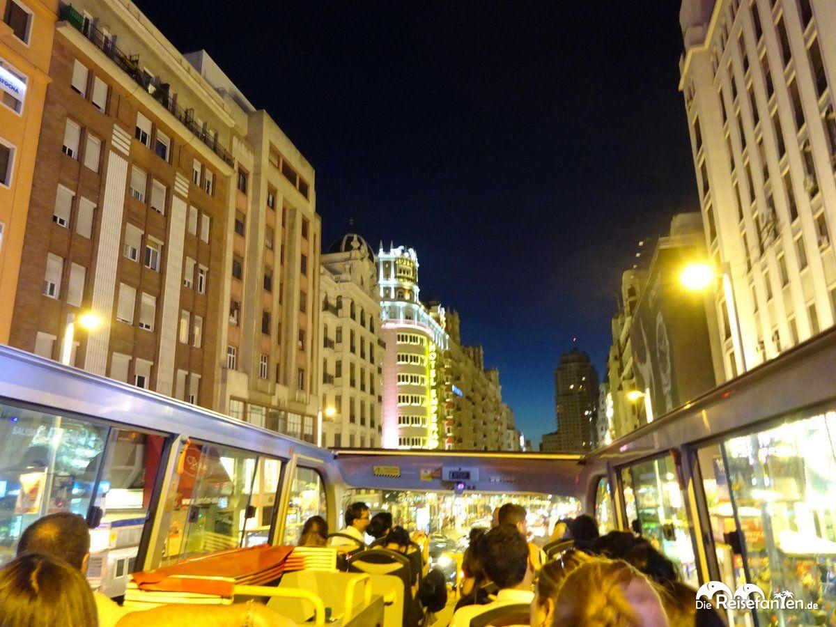 Mit dem Bus durch Madrid