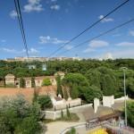 Blick aus der Seilbahn von Madrid