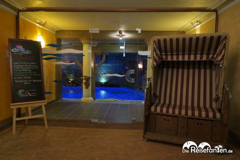 Der Eingangsbereich zur Wellness im Upstalsboom Landhotel Friesland