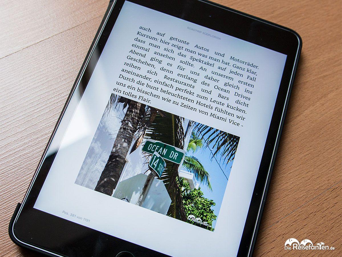 Blick in das dritte eBook der Reisefanten zum Roadtrip durch Südflorida