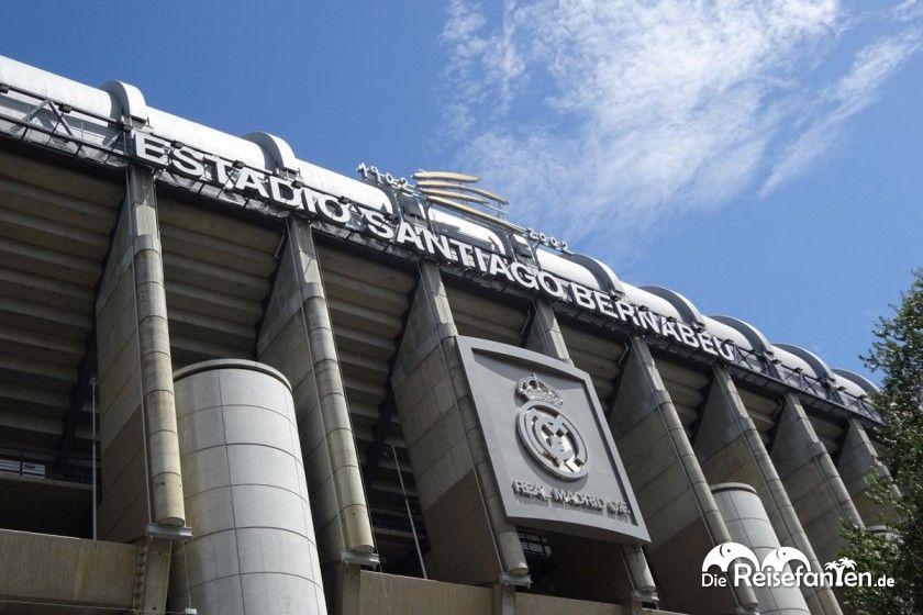 Das Stadion Santiago Bernabeau in Madrid