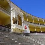 Die königliche Loge in der Stierkampfarena Las Ventas in Madrid