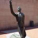 Torero Statue vor der Stierkampfarena Las Ventas in Madrid