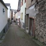 Viel, auch kleine Gassen prägen das Stadtbild des am Rheintal gelegenen St. Goar