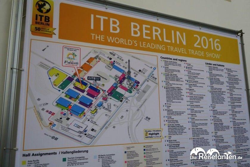 Lageplan der ITB in Berlin 2016
