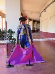 Torero Nachbildung in der Stierkampfarena Las Ventas in Madrid