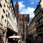 Blick auf die Kathedrale von Straßburg