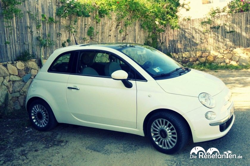 Unser Fiat500 von Firefly auf Sardinien