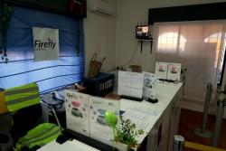 Das Büro von Firefly am Flughafen Cagliari auf Sardinien