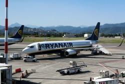 Der Flughafen Mailand-Bergamo wird von vielen Ryanair Maschinen bedient