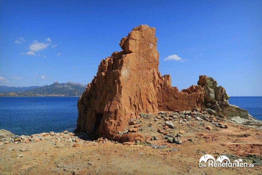 Die Rocce Rosse in Arbatax auf Sardinien