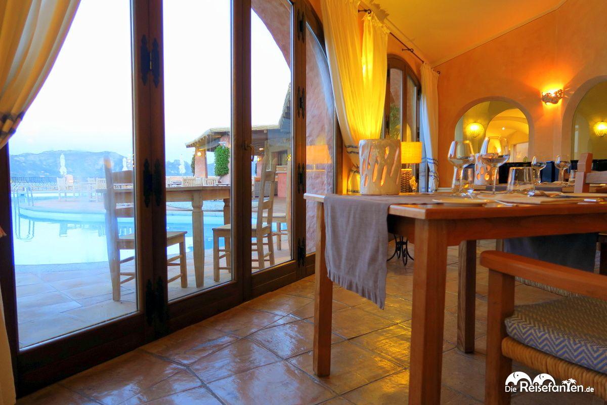 Blick aus dem Restaurant des Villa del Golfo