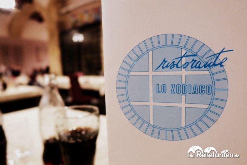 Die Speisekarte des Lo Zodiaco in Cagliari