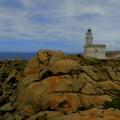 Leuchtturm an der Capo Testa auf Sardinien