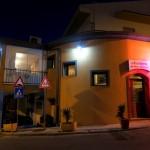 Blick auf das Restaurant La Trattoria Da Guiseppa Maria in Castelsardo auf Sardinien