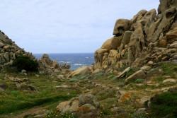 Die Felsen an der Capo Testa laden zum Klettern ein