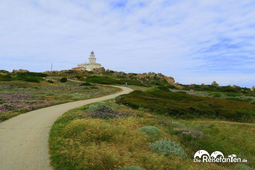 Weg zum Capo Testa auf Sardinien