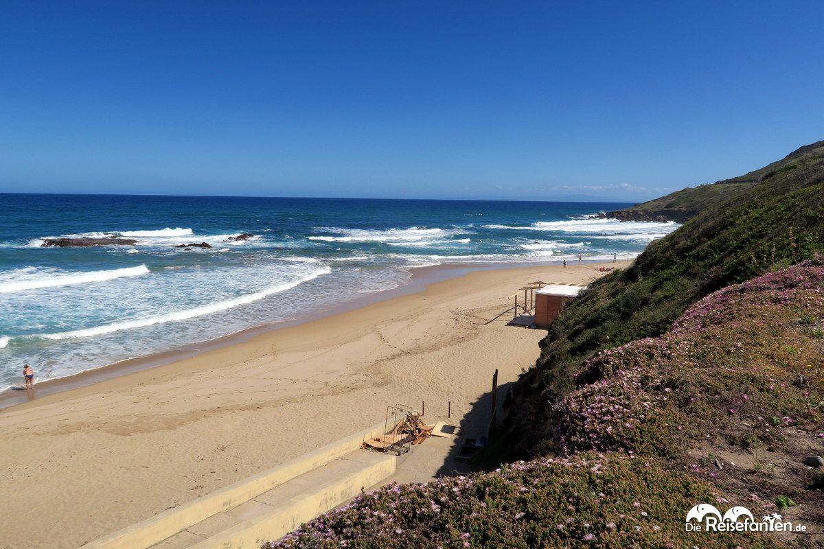 Am strand von lu bagnu for Sardinien ferienhaus am strand