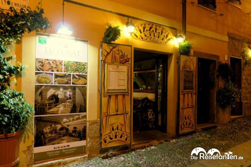 Eingangsbereich des Restaurants Lu Furat in Alghero