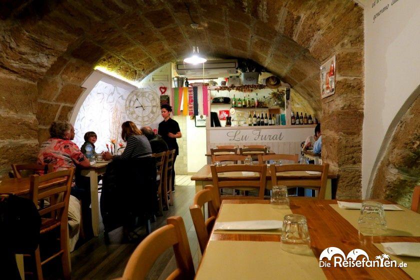 Restaurant im Gewölbe - das Restaurant Lu Furat in Alghero