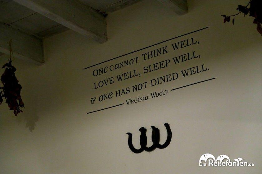 Wahre Worte im Restaurant Lu Furat in Alghero