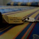 Zimmerschlüssel des Hotels Catalunya in Alghero